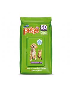 Petys Paños Húmedos para Mascotas x 50 und