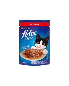 Alimento FELIX CLASSIC con Carne 85 grs - Ciudaddemascotas.com