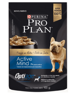 Pro plan pouch adult 7+ active mind x 100 gr