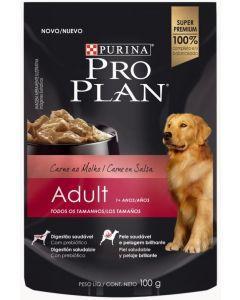 Comida humeda Pro plan pouch Adulto Carne-Ciudaddemascotas.com