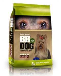 Br For Dog Adulto Raza Pequeña 3 Kg + Snacks Pop'n Bites Tocineta