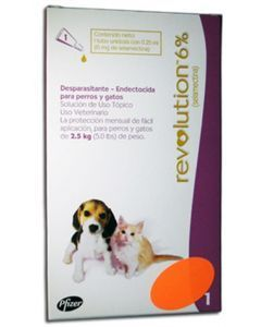 REVOLUTION 6% PERROS Y GATOS X 0.25 ML - PRSR