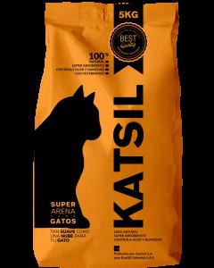 KATSIL Arena para Gatos Natural 5 kg