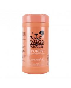 WAGS & WIGGLES pañitos purify pomelo hipoalergenicos x 50 und en tarro