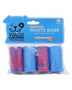 WAGS & WIGGLES bolsas plasticas desechos 4 rollos 60 und total sandia