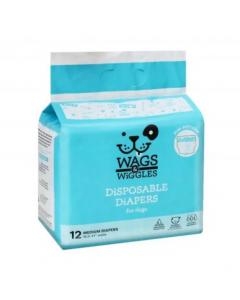 Pañales para perros Wags & Wiggles desechables - Ciudaddemascotas