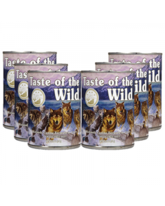 Six Pack Taste of the wild Lata Wetlands 374 g