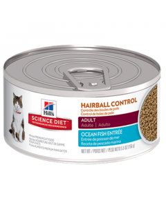 Hills Lata Gato Hairball Control Ocean Fish Savory Seafood