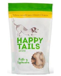 Galletas Perro Happy Tails Pollo- Espinaca - ciudaddemascotas.com