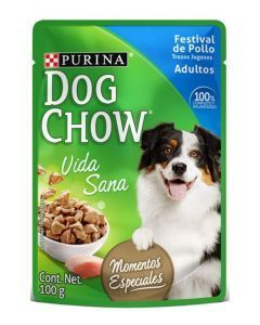 Six Pack Dog chow pouch Festival de pollo