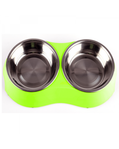 Comedero Doble Pet Twin Bowl Verde Small - PRSR