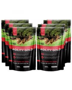 Six Pack Agility Gold Trozos de Carne Res - Ciudaddemascotas.com
