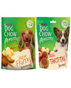Combo Dog Chow Abrazzos Multisabor (Mix de Frutas + Tartitas)