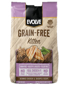 Evolve Grain Free Kitten Chicken and Rice 1.24 Kg - P80