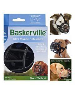 Baskerville Bozal Ultra Muzzle Talla 4 Negro - Ciudaddemascotas.com