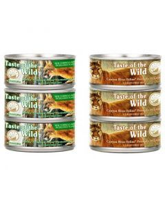 Taste Of the Wild City Combo Doble Six Pack 6 Lata Rocky Mountain 156 g + 6 Lata Canyon River 156 g
