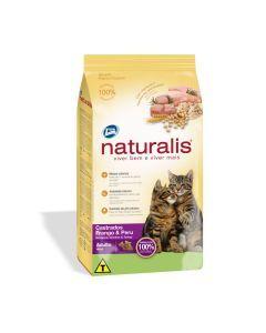 Naturalis Gatos Adultos Castrados Pollo y Pavo x 3