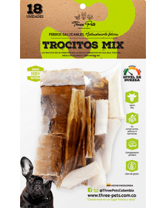 Three Pets -Trocitos Mix 120 gr x 18 Und