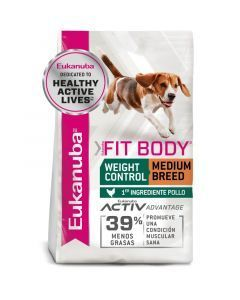 Comida EUKANUBA MEDIUM ADULTO FIT BODY - ciudaddemascotas.com