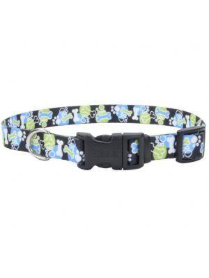 Coastal perro styles hueso huella azul correa small 5/8