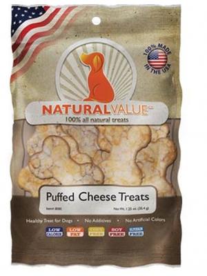NATURAL VALUE Puffed Cheese Treats X 35.4 GR