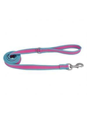 Coastal perro pro fucsia con azul correa small-medium 3/4