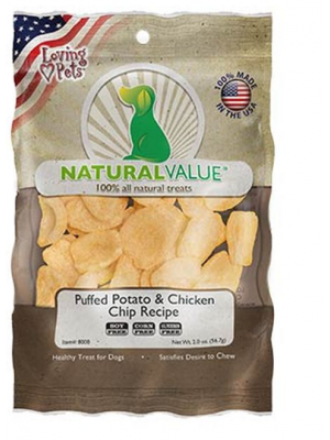 NATURAL VALUE Puffed Potato & Chicken Chip Recipe X 56.7 GR