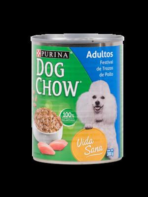 Six Pack Dog Chow Festival Trozos de Pollo - Ciudaddemascotas.com