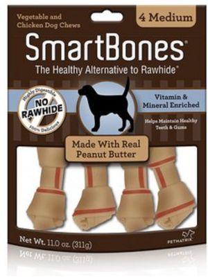 Smartbones Peanut Butter Medium x 4 Piezas