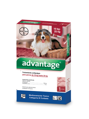 Antipulgas para perros Advantage Pipeta  - Ciudaddemascotas.com