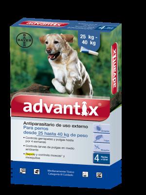 Antipulgas Advantix Para Perros Pipeta X 4.0 ml - Ciudaddemascotas.com