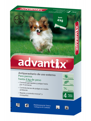Antipulgas Advantix Para Perros Pipeta X 0.4 ml - Ciudaddemascotas.com