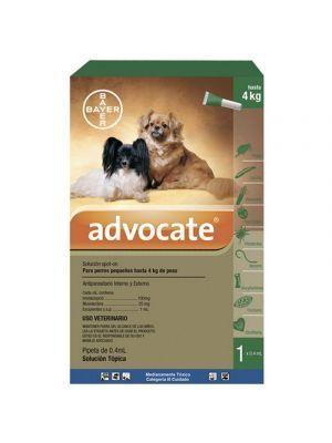 Advocate Pipeta para Perros hasta 4 kg - P80