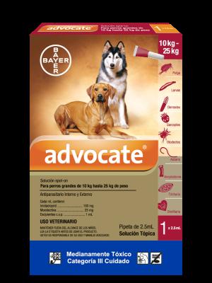Antipulgas Advocate Para Perros Pipeta  - Ciudaddemascotas.com