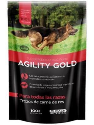 Agility Gold Pouch Trozos de Carne de Res