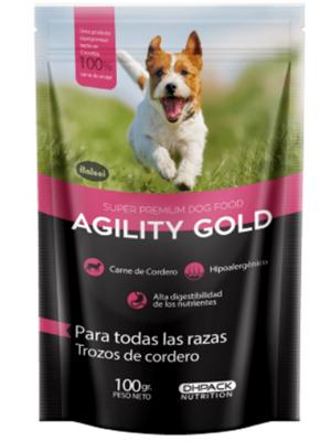 Snack Agility Gold Pouch Trozos de Cordero - Ciudaddemascotas.com