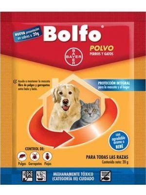Antipulgas Bolfo Polvo para Perros y Gatos - Ciudaddemascotas.com
