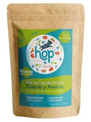 Hop Mix Probióticos para Gatos Carne y Avena x 100 gr