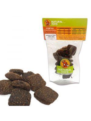 Snacks para perros Brownies de proteína y fibra- Ciudaddemascotas
