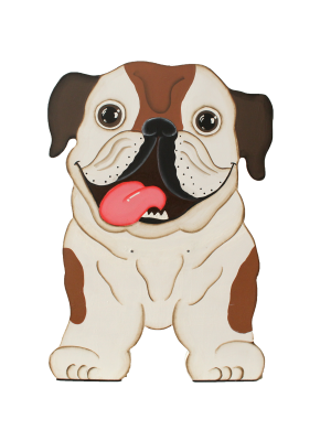 Comedero Doble Elevado Bulldog Ingles - Ciudaddemascotas.com