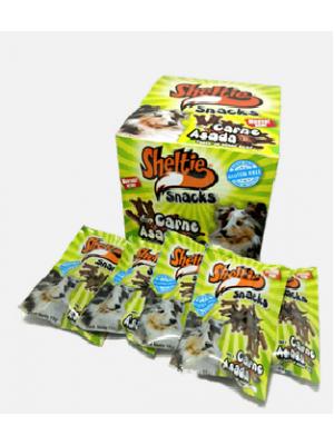 Snacks Sheltie Carne Asada 15 gr x 24 Und - ciudaddemascotas.com