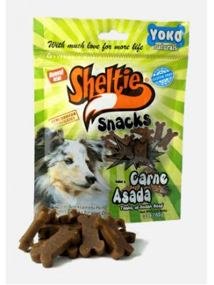 Snacks Sheltie Carne Asada 85 gr - ciudaddemascotas.com