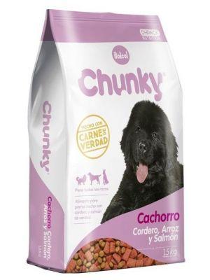 Comida Chunky cachorro cordero y salmón - Ciudaddemascotas.com