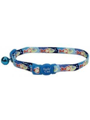 Coastal collar gato fashion peces azul