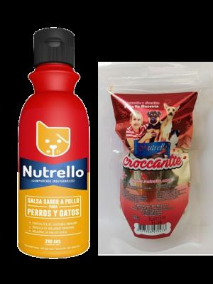 Snacks para perro Nutrello Salsa Pollo 280gr-Ciudaddemascotas.com