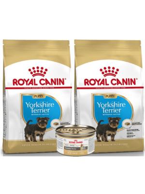 Royal Canin Yorkshire Puppy 1.13 Kg Combo x 2 + Lata gratis - Ciudaddemascotas.com