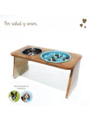 Comedero para Perros Mandi Pets Elevado azul-Ciudaddemascotas.com