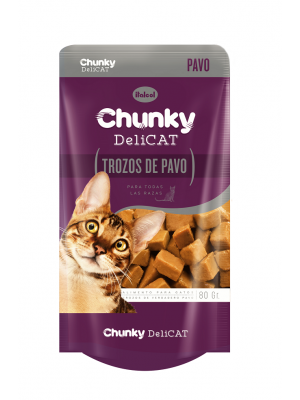 Comida húmeda para gato Chunky pavo- Ciudaddemascotas.com