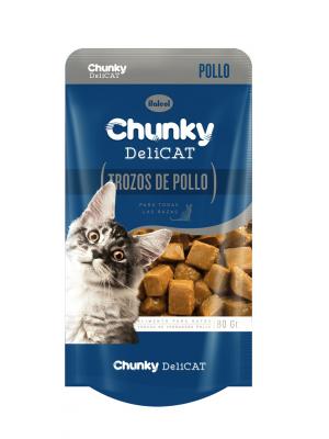 Chunky Delicat Pouch Trozos de Pollo 80 gr-Ciudaddemascotas.com