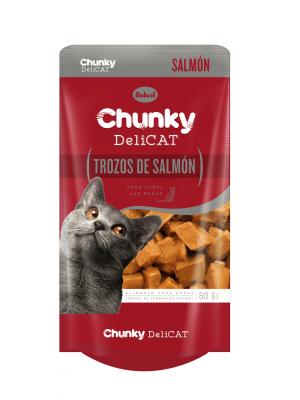 Chunky Delicat Pouch Trozos de Salmon 80 gr-Ciudaddemascotas.com